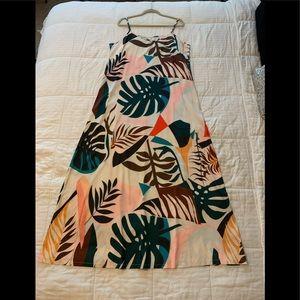 Shein Tropical Print Maxi Dress